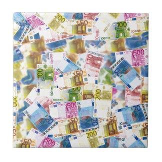 Bills Money Euro Background Wealth Rich Ceramic Tile