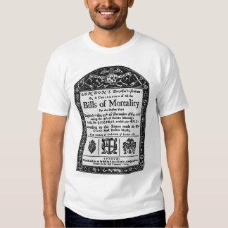 Bills of Mortality 1665 T-shirt