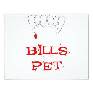 Bills Pet 4.25x5.5 Paper Invitation Card
