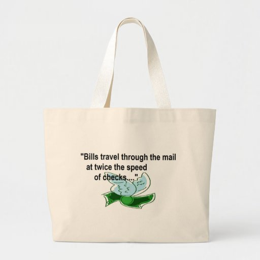 Bills Travel fast by mail Canvas Bag