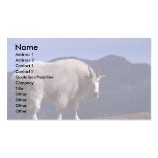 Billy alerta Cabra-grande de la montaña rocosa Tarjetas De Visita