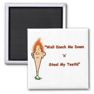 Billy Bob Teeth 2 Inch Square Magnet