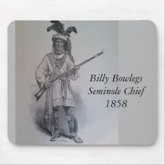 Billy Bowlegs - Seminole Indian Chief Mouse Pad