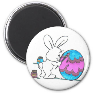Billy Bunny 2 Inch Round Magnet