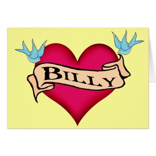 Billy - Custom Heart Tattoo T-shirts & Gifts Card