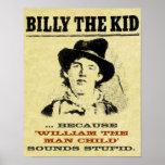 """Billy divertido el poster """"querido"""" del niño"""