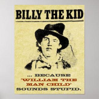 Billy divertido el poster querido del niño