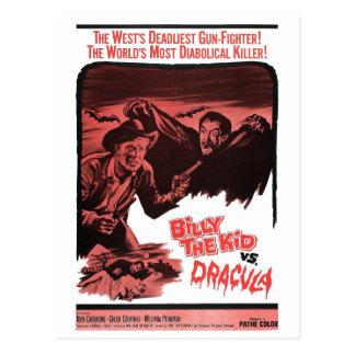 Billy el niño contra la postal de Drácula