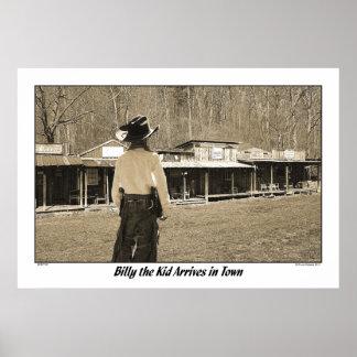 Billy el niño llega en ciudad póster