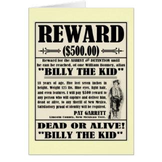 Billy el niño quiso el poster tarjeta