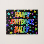 "[ Thumbnail: ""Billy"" First Name, Fun ""Happy Birthday"" Jigsaw Puzzle ]"