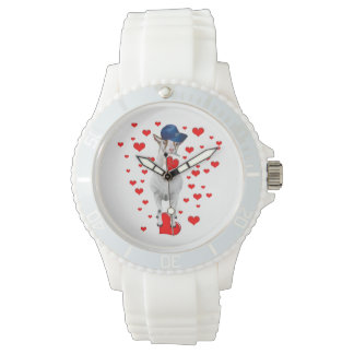 Billy Goat And Hearts Wrist Watch