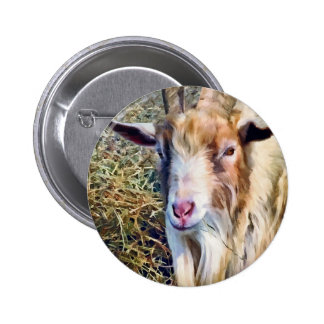 Billy Goat Closeup 2 Inch Round Button