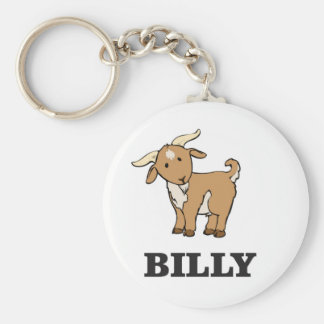 billy goat farm animal keychain