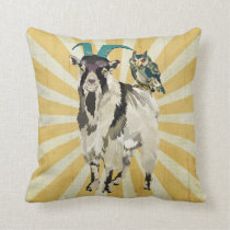 Billy Goat & Owl Mojo Pillow