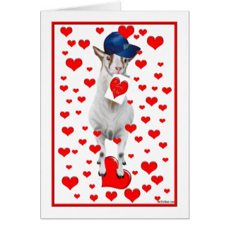 Billy Goat Valentine Card