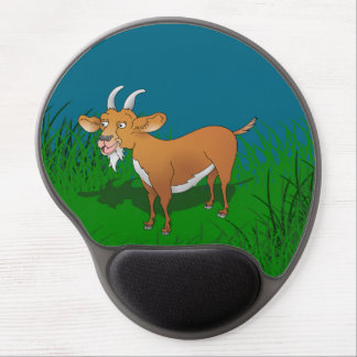 Billy goat with cheerful smile gel mouse pad