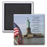 Billy Graham Courage Quote on Magnet