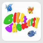 Billy Jackfish Square Stickers