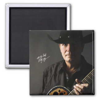Billy Kay Cowboy Guitar Square Magnets