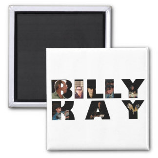 Billy Kay Photo Tour Logo Square Magnets