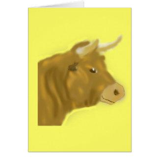 Billy la Bull Tarjeta De Felicitación