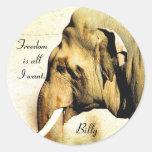 Billy_ libre Sticker_by Elenne Pegatina Redonda