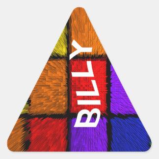 BILLY (nombres masculinos) Pegatina Triangular