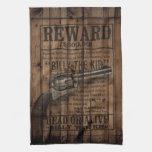 billy occidental rústico del grunge el arma de la  toallas de cocina