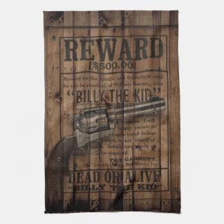 billy occidental rústico del grunge el arma de la  toalla