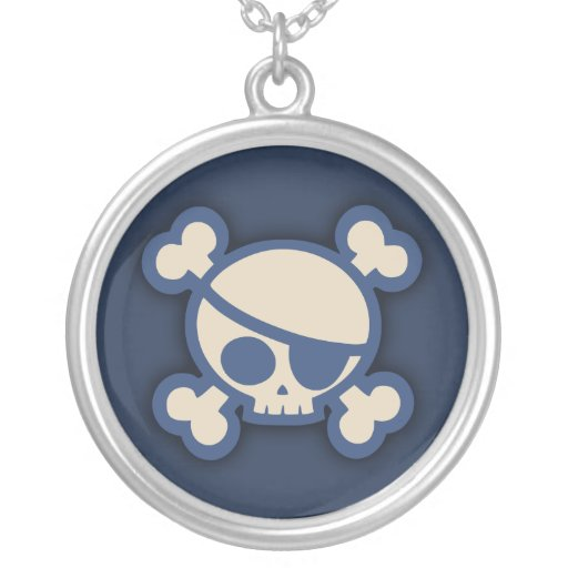 Billy Roger -Blue Round Pendant Necklace