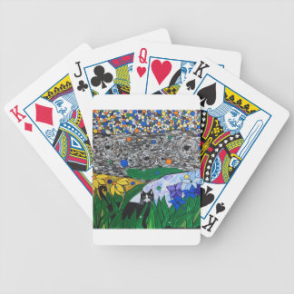 billy the cat and his secret garden bicycle playing cards