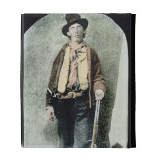 Billy the Kid (coloured engraving) iPad Folio Cover