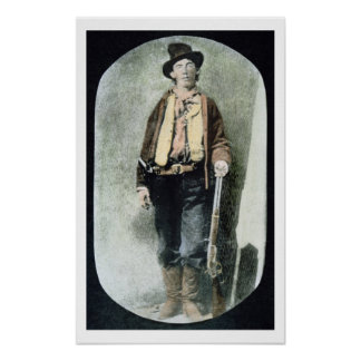 Billy the Kid (coloured engraving) Poster