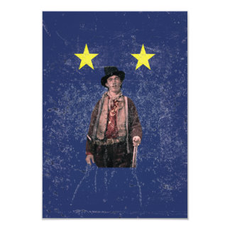 Billy the Kid Distressed Texas Flag Card