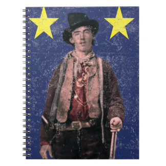 Billy the Kid Distressed Texas Flag Notebook