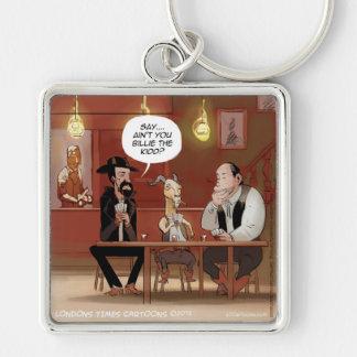 Billy The Kid? Funny Goat Cartoon Keychain