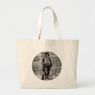 Billy The Kid on Wood Large Tote Bag