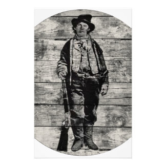 Billy The Kid on Wood Stationery
