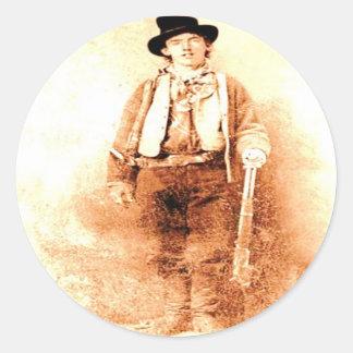 Billy the Kid Classic Round Sticker