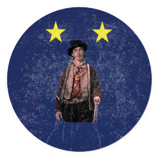 Billy the Kid Texan Burnet Flag Invitation
