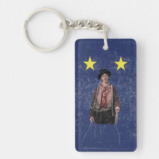 Billy the Kid Texan Burnet Flag Keychain