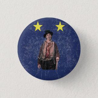 Billy the Kid Texan Burnet Flag Pinback Button