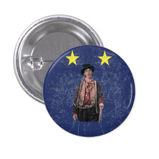 Billy the Kid Texan Burnet Flag Pinback Button