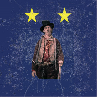 Billy the Kid Texan Burnet Flag Statuette