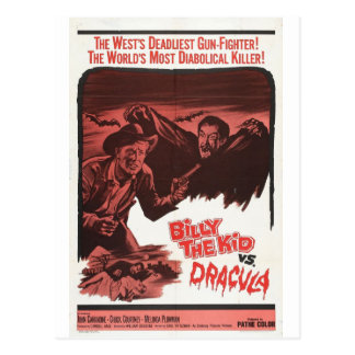 Billy the Kid Vs Dracula movie postcard