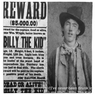 Billy The Kid Wanted Dead Or Alive Gifts & Tees Napkins