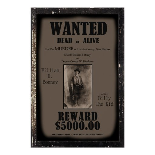 Billy The Kid Wanted Dead or Alive Poster