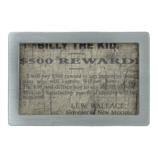 Billy The Kid Wanted Poster Rectangular Belt Buckle