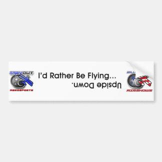 Billy Werth Airshows and Grayout Aerosports Bumper Sticker
